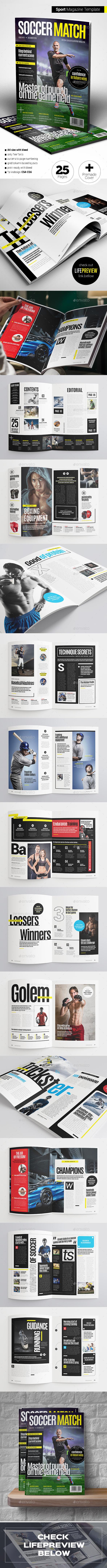Sport Magazine - Magazines Print Templates