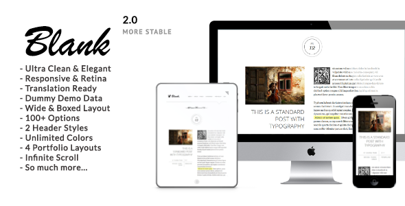 Blank - Elegant Minimalist WordPress Blog Theme