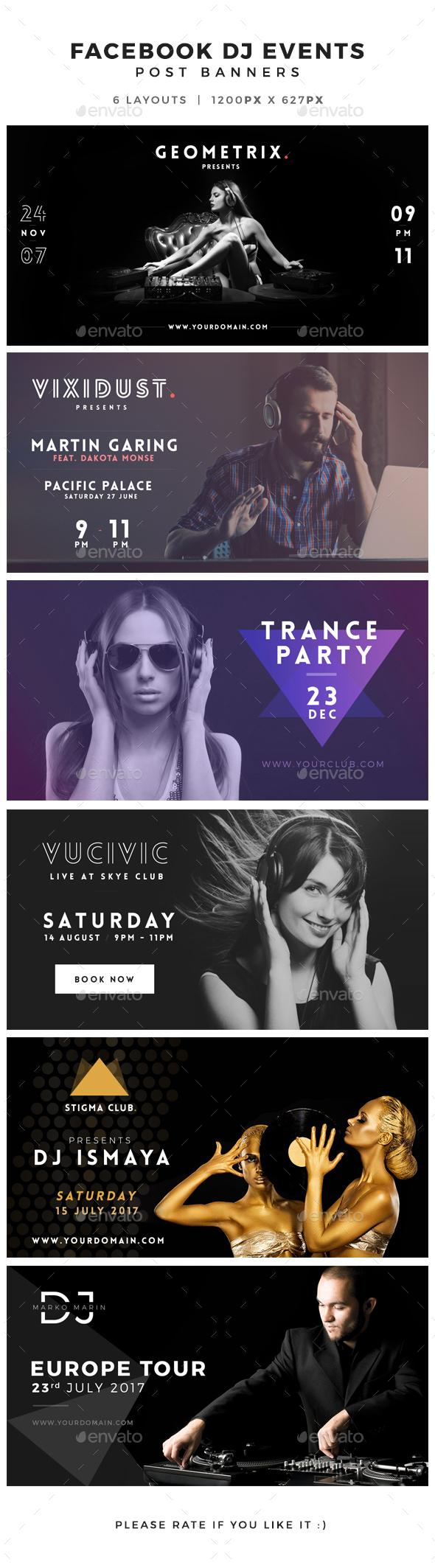Facebook DJ Events Post Banner - Facebook Timeline Covers Social Media