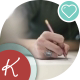 The Girl Draws a Sketch On Paper - VideoHive Item for Sale