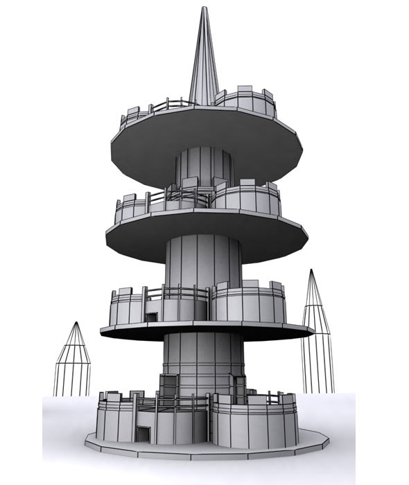 Tower Cartoon House - 3DOcean Item for Sale