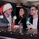 Young People Celebrate Christmas in a Bar - VideoHive Item for Sale