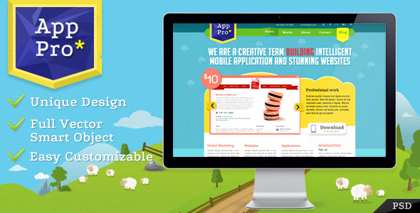 Free Download App Pro PSD Template Nulled Latest Version
