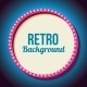 Retro Frame Circle With Neon Lights - GraphicRiver Item for Sale