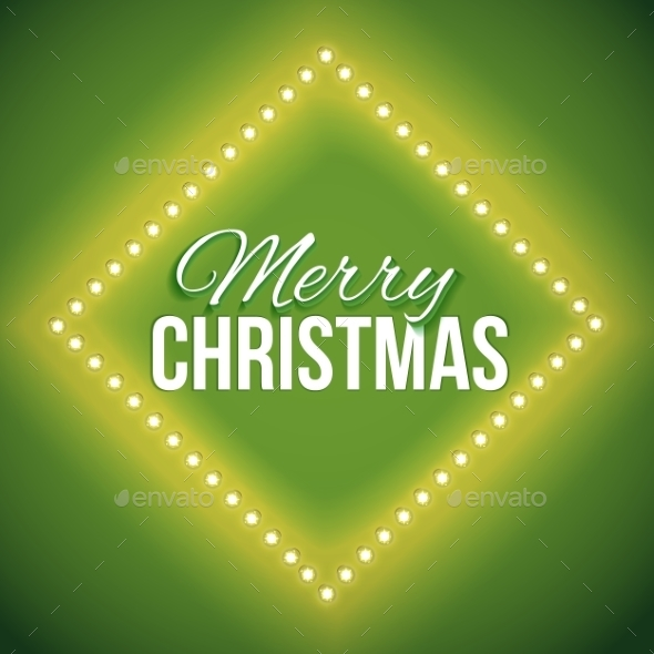 Congratulation To Christmas With Green Lights - Backgrounds Decorative