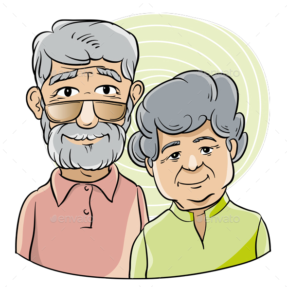 Grandfather and Grandmother - People Characters