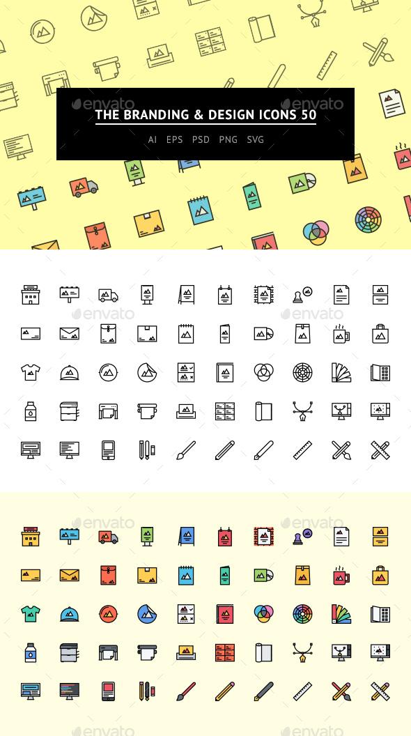 The Branding & Design Icons 50 - Web Icons