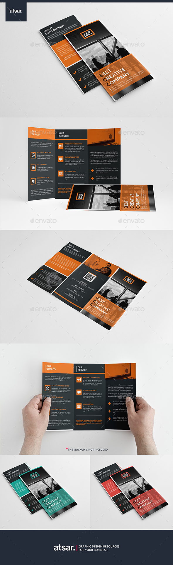 Squaro Trifold Brochure - Corporate Brochures
