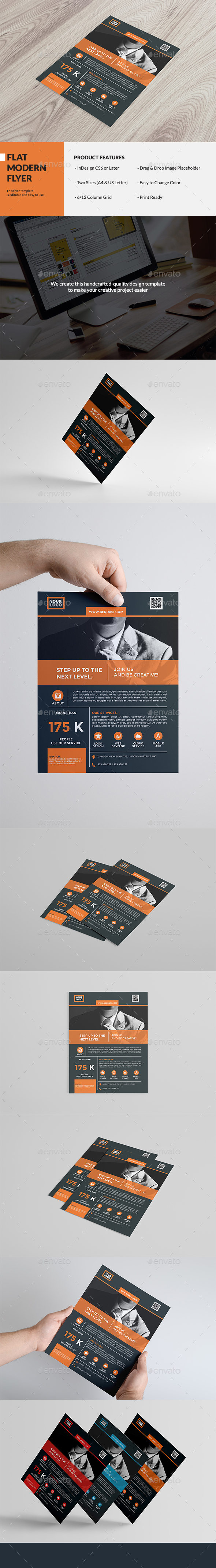 Flat Modern Flyer - Corporate Flyers