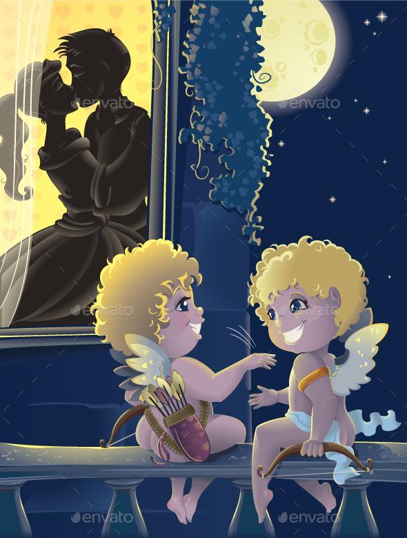 Funny Cupids.  - Valentines Seasons/Holidays