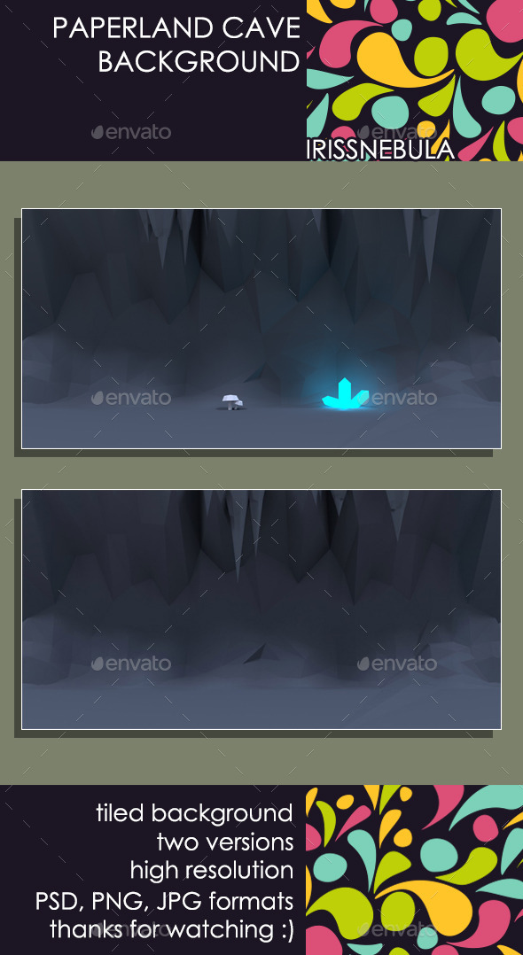 Paperland Cave Game Background - Backgrounds Game Assets