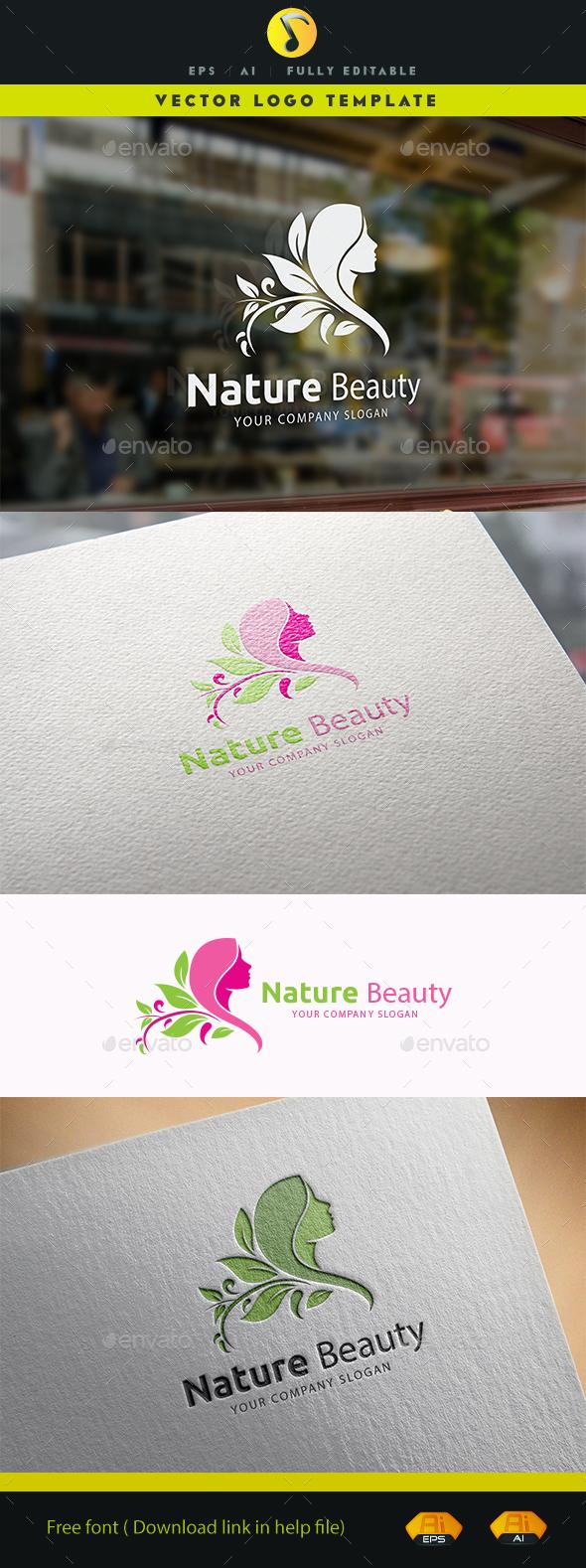 Nature Beauty - Symbols Logo Templates