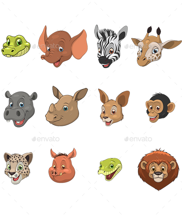 Funny Kids Animals - Animals Characters