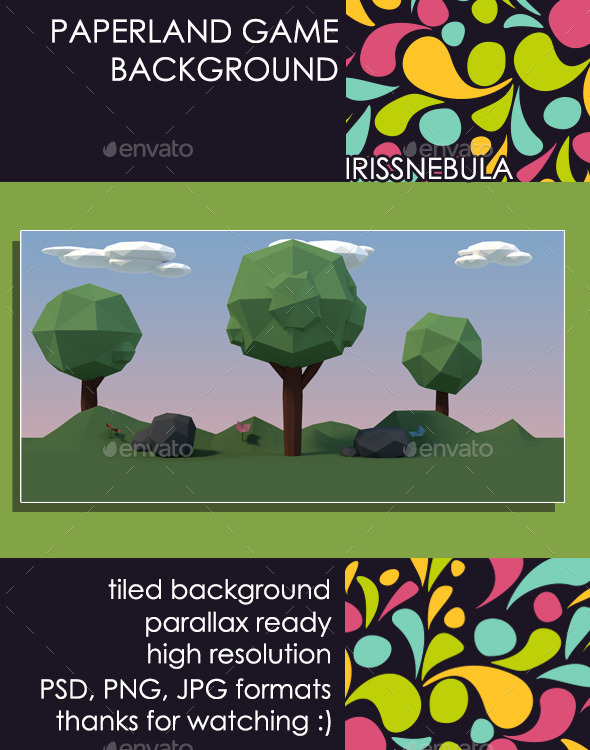 Paperland Game Background - Backgrounds Game Assets