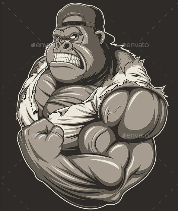 Terrible Gorilla Athlete - Sports/Activity Conceptual