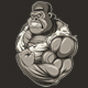 Terrible Gorilla Athlete - GraphicRiver Item for Sale