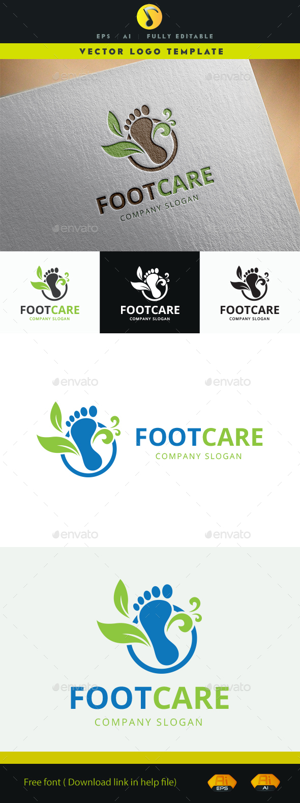 Foot Care II - Symbols Logo Templates