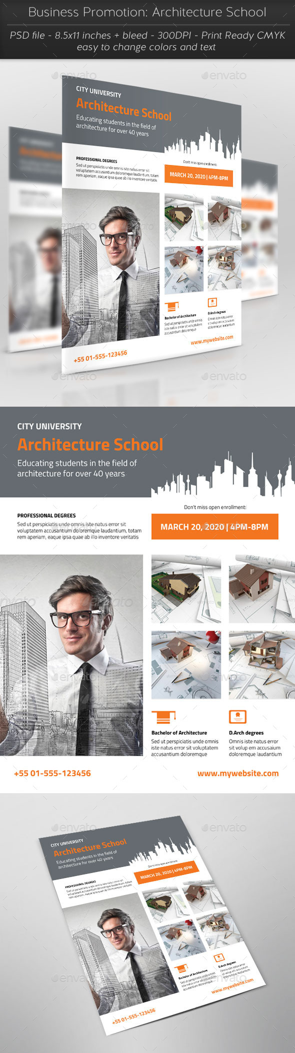 Business Promotion: Architecture School - Corporate Flyers