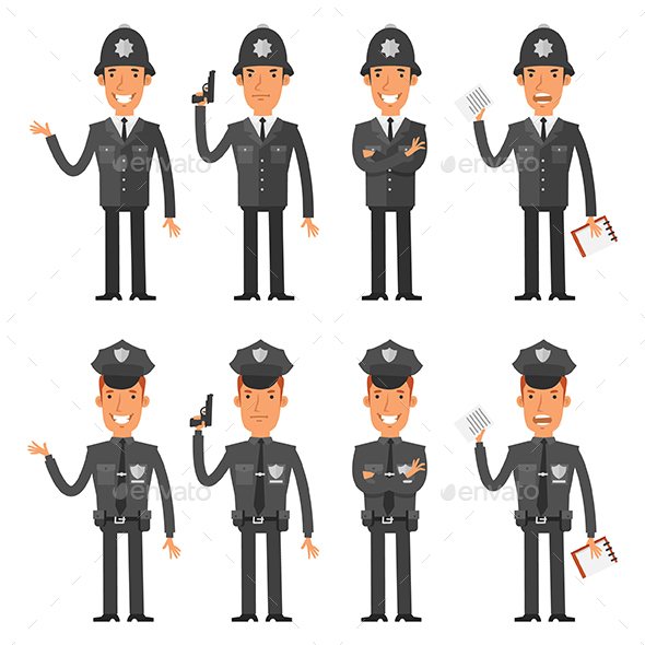 Characters Policeman - People Characters