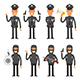 Policeman and Offender - GraphicRiver Item for Sale