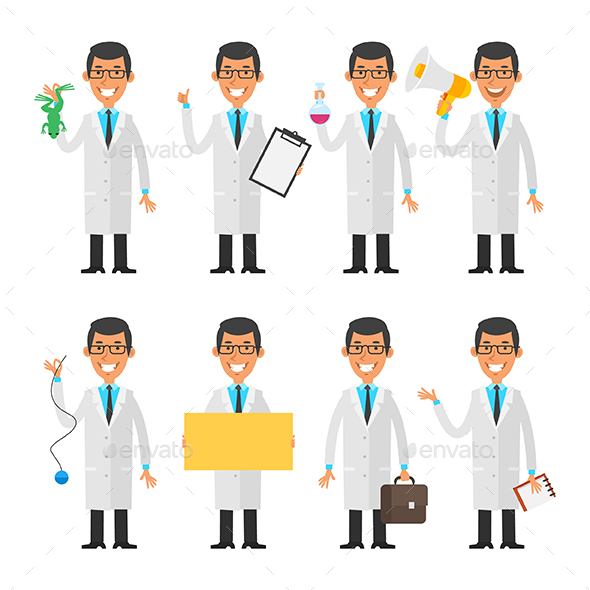Young Scientist - People Characters