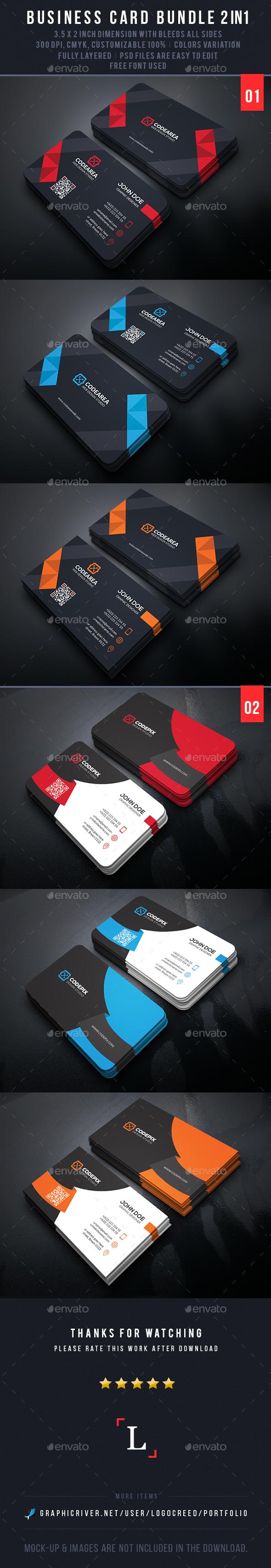 Mega Business Card Bundle - Business Cards Print Templates