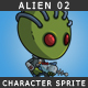Alien 02 - The green skined alien - GraphicRiver Item for Sale