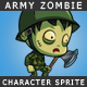 The Army Zombie Character Sprite - GraphicRiver Item for Sale