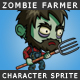 Zombie Farmer Character Sprite - GraphicRiver Item for Sale