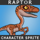 Dinosaur character sprite - Raptor - GraphicRiver Item for Sale