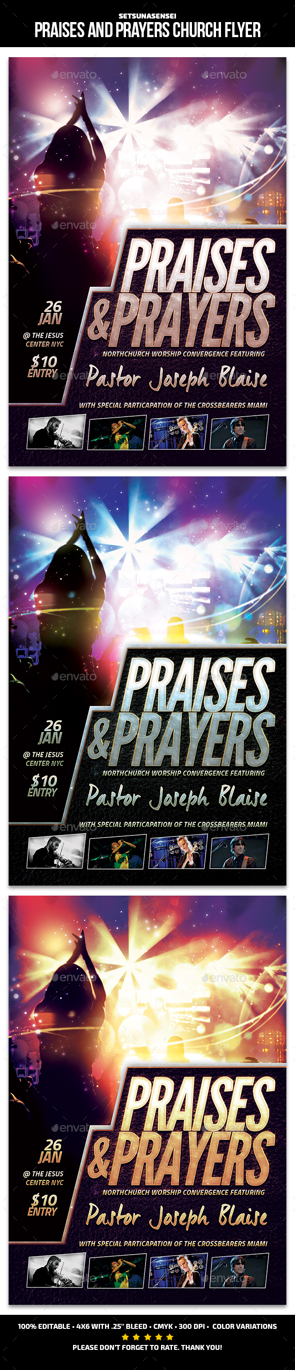 Praises and Prayers Church Flyer - Church Flyers