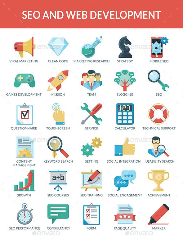 SEO and WEB development - Web Icons