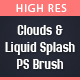 65 High Res Clouds And Liquid Splash Photoshop Brush - GraphicRiver Item for Sale