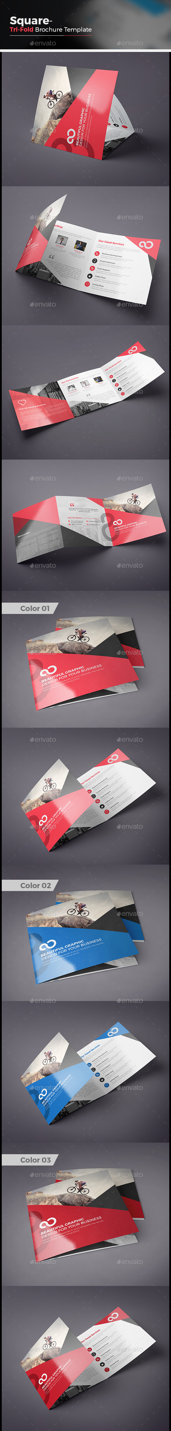 Square Tri fold Business Brochure - Corporate Brochures