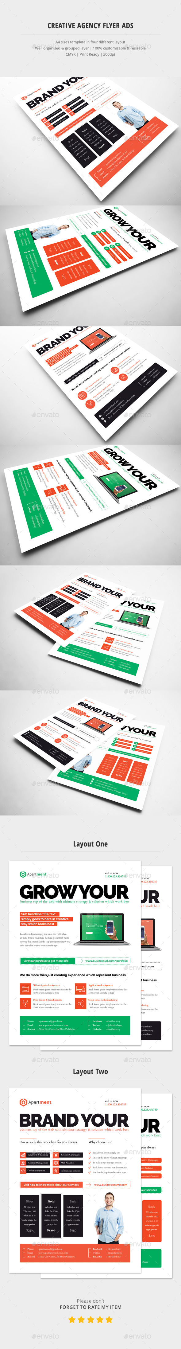 Creative Agency Flyer Ads - Corporate Flyers