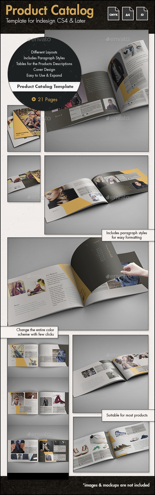 Product Catalog Template - A4 Landscape - Catalogs Brochures