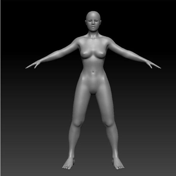 Realistic Human Female - 3DOcean Item for Sale