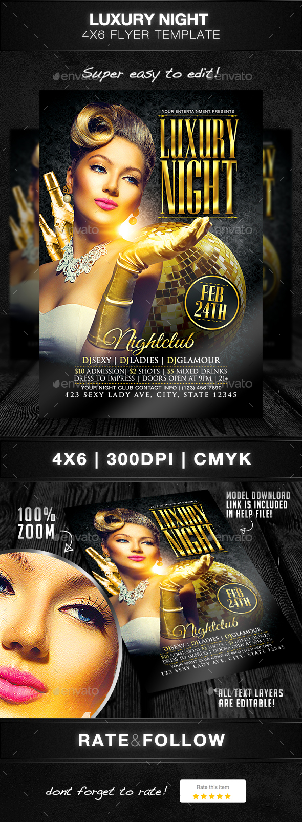 Luxury Night Flyer Template - Clubs & Parties Events