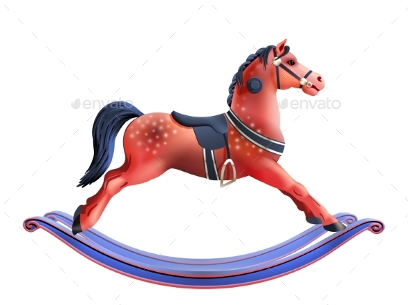 Rocking Horse Realistic - Animals Characters