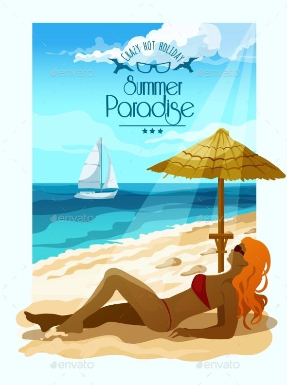 Seascape Background Illustration - Seasons Nature