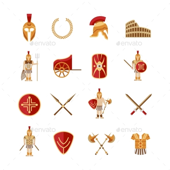 Gladiator Icons Set - Miscellaneous Icons