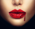 Sexy vampire woman lips with dripping blood - PhotoDune Item for Sale