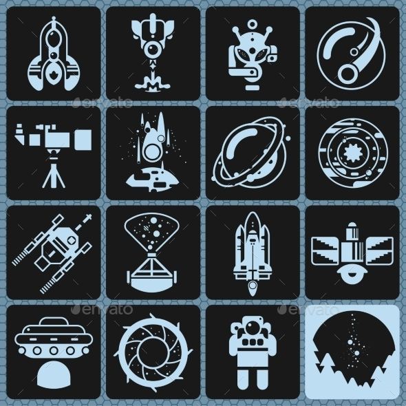 Space Icons Monochrome - Miscellaneous Icons
