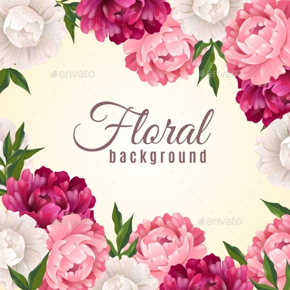 Floral Realistic Background  - Flowers & Plants Nature