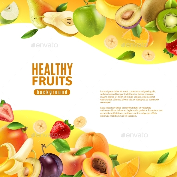 Healthy Fruits Background Banner