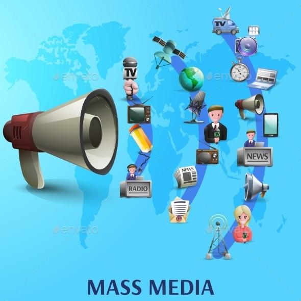 Mass Media Poster - Backgrounds Decorative