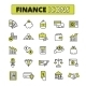 Finance Icons Set Line - GraphicRiver Item for Sale