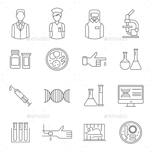 Microbiology Symbol With White Background - Miscellaneous Icons