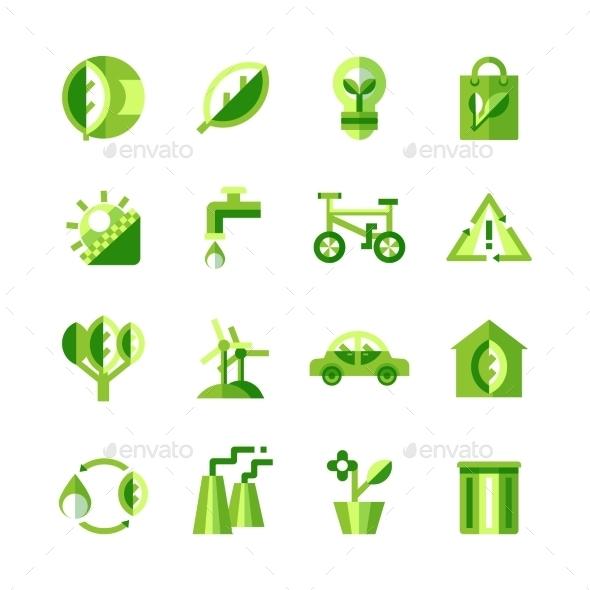 Ecology Icons Set - Web Icons