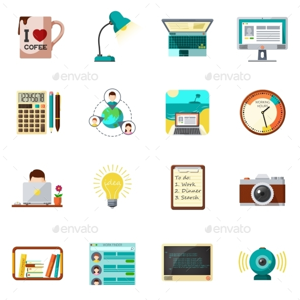 Freelnce Icons Flat - Man-made objects Objects